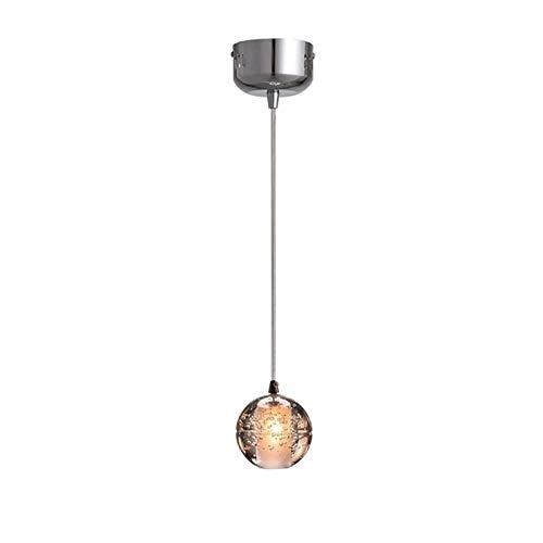 Luz colgante moderna Chandelier transparente esférica E27, araña de cristal de cristal, chandelier de alto brillo, 9cm adecuado for comedor, hotel, sala de estar, dormitorio, balcón lámparas de cocina
