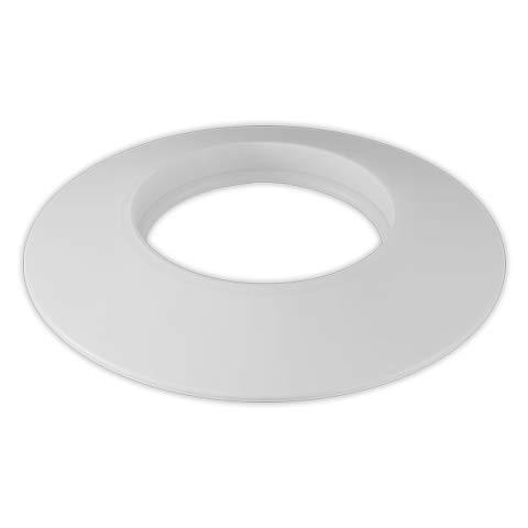 DOJA Industrial | Plafon Embellecedor Cubremuros | 125 mm de Diámetro | Color Blanco | Roseton para sistemas de calefaccion pellet. tubo, estufa, chimenea, radiador, tuberia, entre otros usos.