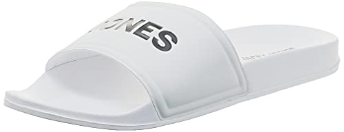 Jack & Jones Herren JFWLARRY POOL SLIDER WHITE Sandale, 44 EU