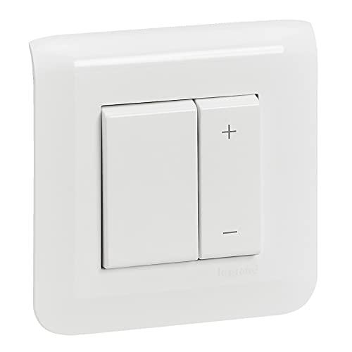 Legrand 538301 Interruptor Ecoregulador de 600 W con función de Memoria, Todo Tipo de lámparas con Placa y fijación a Garras