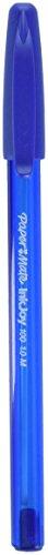 Paper Mate InkJoy 100ST Ballpoint Pen, Medium Point, Blue, 8 Count