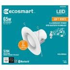 6 in. White Integrated LED Recessed Trim (Soft White) Blue Tooth