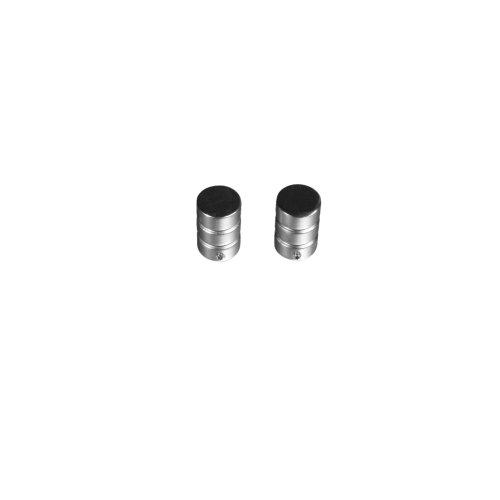 Liedeco Endstück für Gardinenstangen Zylinder mit Rille Landhaus, ø 16mm, 2 STK Chrom matt