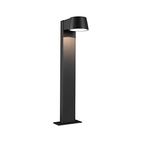 Paulmann 94454 LED Außenleuchte Pollerleuchte Capea IP44 Warmweiß incl. 1x6 Watt Außenbeleuchtung Schwarz Außenlampe Aluminium Gartenlampe 3000 K