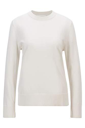 BOSS C_Fibinna 10228696 01 Jersey, Color Blanco Abierto, XS para Mujer