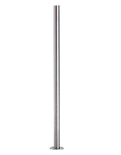 Edelstahlpfosten zur Bodenmontage 42,4mm, Länge 1190mm