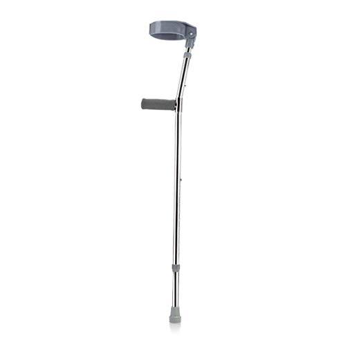 Muletas De Antebrazo Para Adultos Walk Easy Con Mango De Pvc, Muletas De Codo Ligeras Y Duraderas Ayudas De Movilidad Para El Cuidado De La Salud Para Ancianos Discapacitados Discapacitados, Gris, So