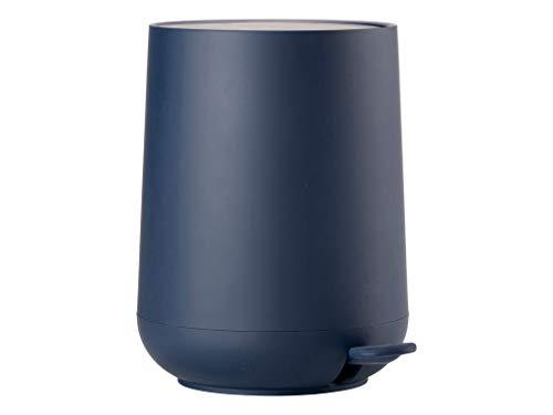 Zone Denmark 361131 Nova One Papelera con Pedal, Cubo de Basura para el baño, Ø: 23 cm con Soft-Touch y función Soft Close – Azul Marino, Royal Blue