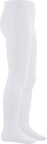 Playshoes Collants en coton de haute qualité pour fille, Blanc, 3-6 mois (62/68)