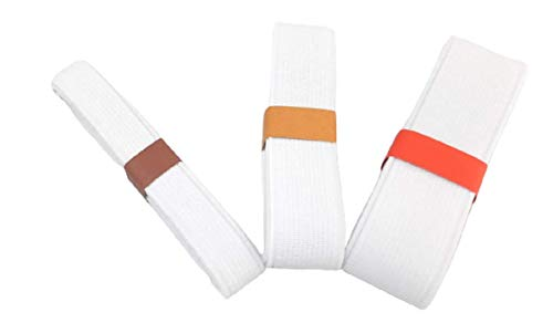 Mixed Size 3 Yards 1/2\u0026quot; 3/4\u0026quot; 1\u0026quot; White Flat Elastic Band Sewing Clothing Accessories Nylon Webbing Garment Trousers Costumes Craft DIY