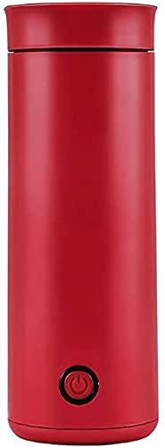Hervidor portátil 400ml Mini Calentador de Agua Caliente Hervidor eléctrico Acero Inoxidable, 30 0W, 400ML, Sin BPA con Parada de cocción Taza de café con Leche Caliente automática (Color: A), práct