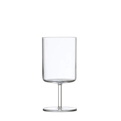 Schott Zwiesel Tritan Crystal Modo Stemware Set of 4 Water/All Purpose Wine Glasses, 14.9-Ounce, Clear