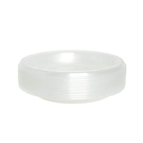 Paquete de 40 platos de fiesta desechables   platos de postre de plástico pequeños ~ transparente ~ 15 cm ~ ideal para fiestas, eventos catered y hogar