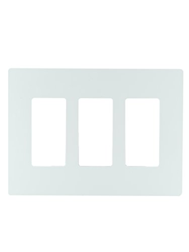 Legrand radiant Screwless Wall Plates for Decorator Rocker Outlets, 3-Gang, White, RWP263WCC6