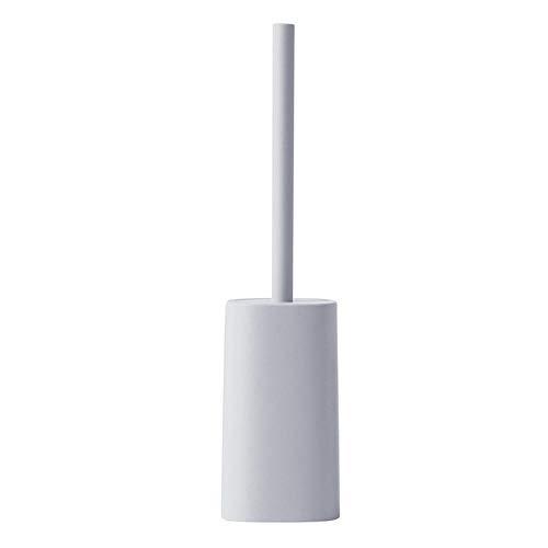 FOLMYTZ Toilet Cleaning Brush Toilet Brushes Bathroom Stainless Steel Toilet Brush Holder Straight Handle Brush Corner Cleaning Toilet Brush Set-Pink (Color : Gray)