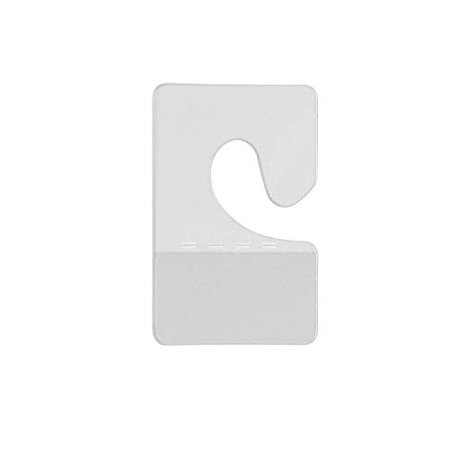 Warmsky 120pcs Clear Plastic Hook Style Adhesive Custom Hang Tabs Display Tags for Store Retail Display -1.6X 1Inch
