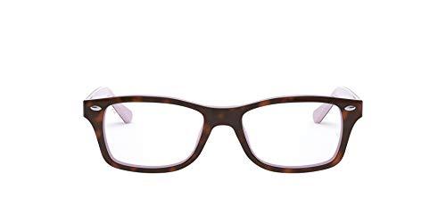 Luxottica S.p.A. Ray-Ban Unisex-Kinder 0RY 1531 3700 48 Brillengestelle, Braun (Topo Havana On Violet)