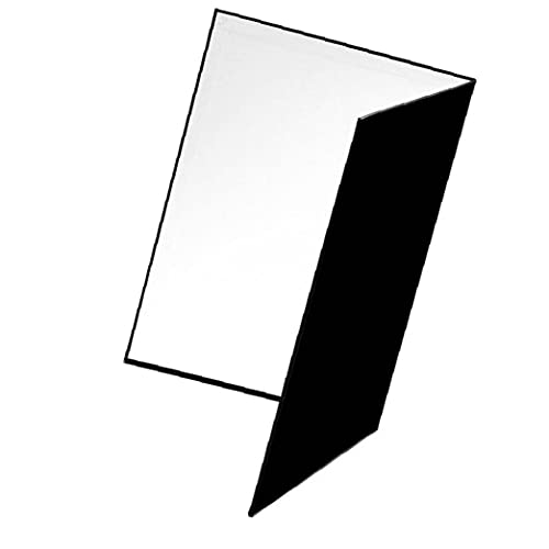 FeelMeet Fotografía de cartón Plegable A4 Difusor Reflector Papel Grueso de Doble Cara para la fotografía Uso de Alimentos y Productos Multi