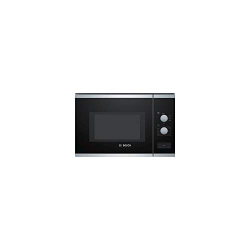 Micro ondes Encastrable Bosch BFL550MS0 - Micro-Ondes Integrable Noir et inox - 25 litres - 900 Watts