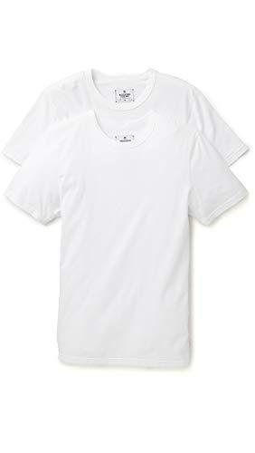 Reigning Champ Men's T-Shirt 2 Pack, White, Medium