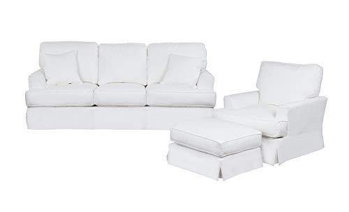Sunset Trading Ariana 3 Piece Living Room Set, White
