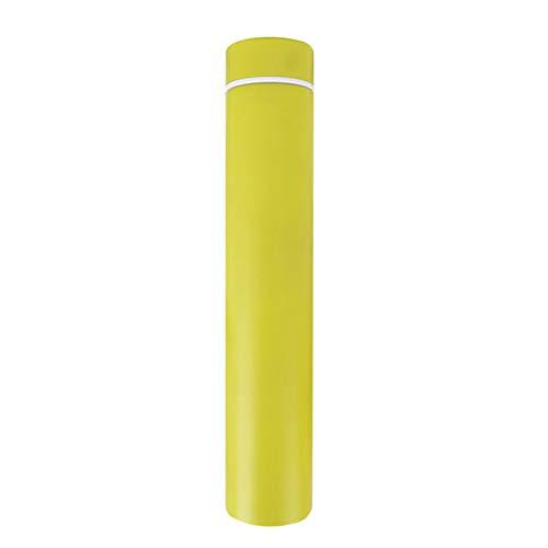 Milopon Gobelet Isotherme Isotherme en Acier Inoxydable avec boîte d'emballage Convient pour Les Aliments, Jaune, 25 * 4.5cm(260ml)