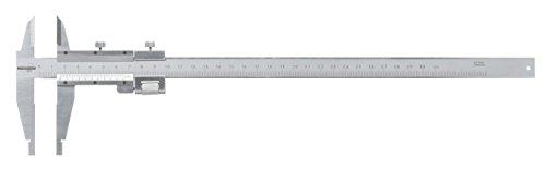 Standard Gage 00514026 Nonius-Messschieber aus Kohlenstoffstahl mit schneidenförmigen Messschenkeln, 0 mm - 300 mm, 0.02 mm