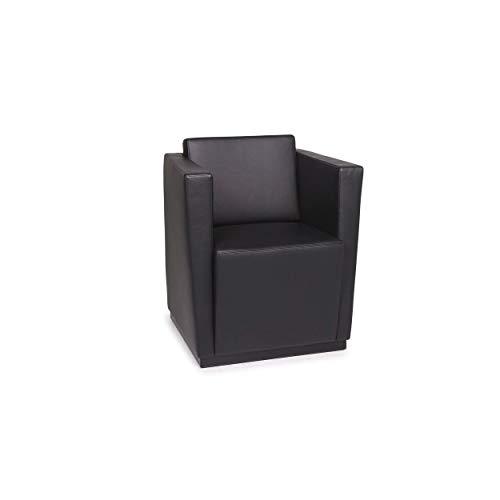 Walter Knoll Elton 406 leather armchair black