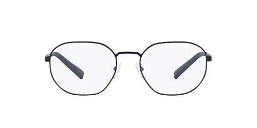 AX Armani Exchange Montura de gafas redondas Ax1043 para hombre, Lente azul mate/Demo, 54 mm