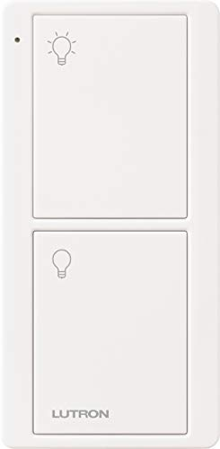 Lutron On/Off Switching Pico Remote for Caseta Smart Home Switch | PJ2-2B-GWH-L01 | White