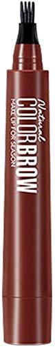Wenkbrauwkleuren, 4-punts wenkbrauwpen, waterdichte vorktip Langdurig zweetbestendig wenkbrauwpotlood, zowel voor beginners als voor professionals (Rood Bruin)