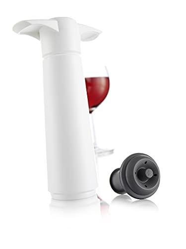 Vacu Vin Pompa Salvavino con 1 Tappo per Il Vuoto - Bianco