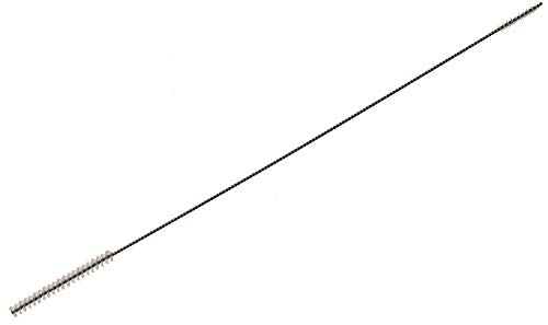 Piebert, spazzola doppia 3/5 mm per tubo latte Philips Senseo, extra lungo 270 mm, filo in acciaio inox, fibra di nylon