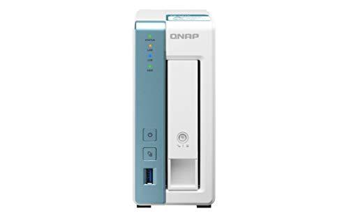 QNAP TS-131K - Soluzione NAS da 6 TB, 1 Bay Desktop | Installata con 1 unità disco rigido Seagate IronWolf da 6 TB.