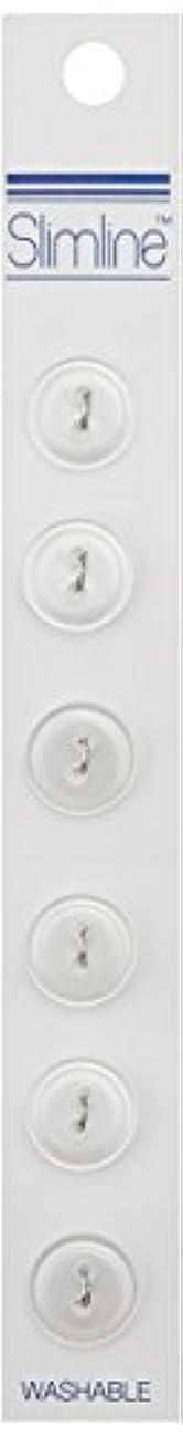 Blumenthal Lansing Slimline Buttons Series 1-White 2-Hole 7/16