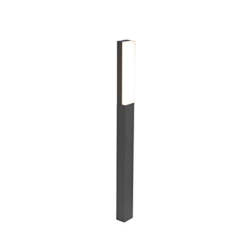 QAZQA Palo da giardino opacus - Moderno - Alluminio,Plastico - Bianco/Grafite - Allungato/Oblungo Non sostituibile Max. 1 x 6 6