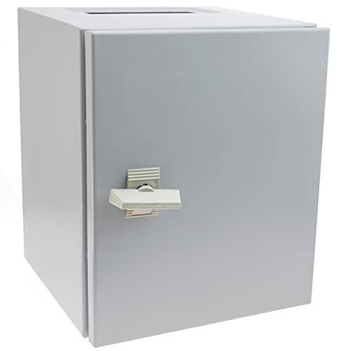 BeMatik - Caja de distribución eléctrica metálica con protección IP65 para fijación a Pared 300x250x250mm