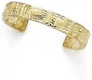 14ct Yellow Gold Greek Key Toe Ring