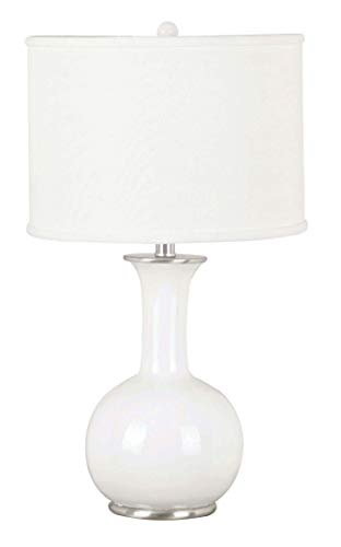 Kenroy Home 21024WH Mimic Table Lamps, Medium, Gloss White Finish