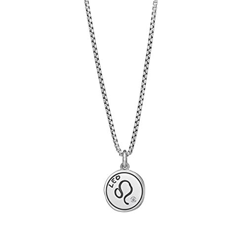 Nomination Halskette Sternzeichen in 925er Silber und Swarovski Zirkonia. Verschluss mit Karabinerhaken. Anhänger 1,4 cm mit Löwen Symbol.Länge Halskette 48 cm. Made in Italy.