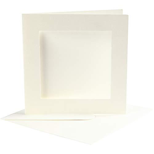 Creativ Company 23740 Passepartoutkarten, 10-teilig, gebrochenes Weiß
