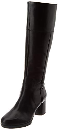 Geox Damen D ANYLLA MID D Knee High Boot, Black, 40 EU