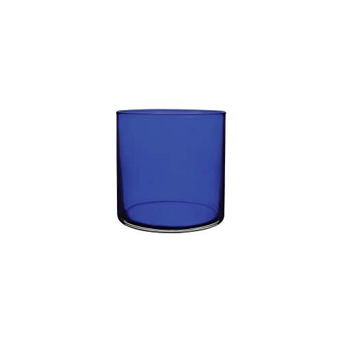 Floral Supply Online - 4' Tall x 4' Wide Cobalt Blue Cylinder Glass Vase and Flower Guide Booklet for Weddings, Events, Decorating, Arrangements, Flowers, Office, or Home Decor.
