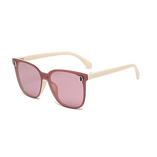 BAJIE Gafas de Sol Nuevas Gafas de Sol con Letra D Gafas de Sol de Montura Redonda Moda de un Solo Producto
