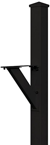 Salsbury Industries 4825BLK In-Ground Mounted Post Modern Decorative Mailbox, Black by Salsbury Industries