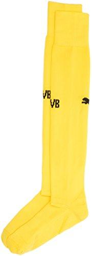 PUMA Erwachsene Socken BVB Socks, Gelb - Cyber Yellow/Black, 43-46 (Herstellergröße: 4)