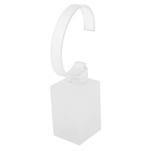 Homyl Acryl Uhrenständer Uhrenbox Ausstellungsstand Schmuck Armbanduhren Display Ständer Aufbewahrung Kasten - 6 cm Weiß