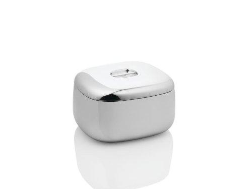 Alessi - REB04 - Ovale portaghiaccio a doppia parete in acciaio inossidabile 18/10 lucido con coperchio.