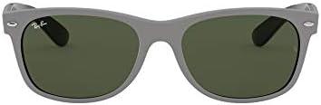 Ray Ban RB2132 New Wayfarer Sunglasses Grey on Black Green 58 mm product image