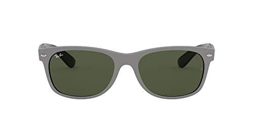 Ray-Ban RB2132 New Wayfarer Sunglasses, Grey on Black/Green, 58 mm